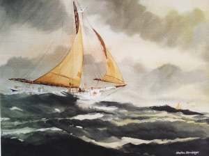 Skipjack in heavy swell, Steve Bleinberger