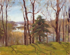 David Diaz, _Through the Woods_, oil for Art of the Forest at West Annapolis Artworks
