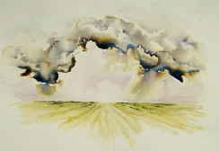 Tolstoy - Breaking Over the Fields - 17x22 - watercolor strong smaller