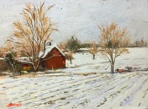 Baran_Bruno Red Barn in Snow