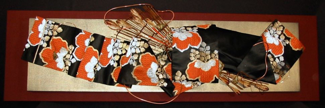 Silk & Samurai, Obi Sculpture by Kathleen Dove
