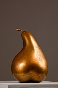 Pear, Cast Bronze by Jan Kirsh