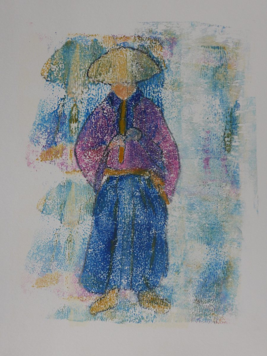 Musical Samurai Monoprint copy SM.jpg