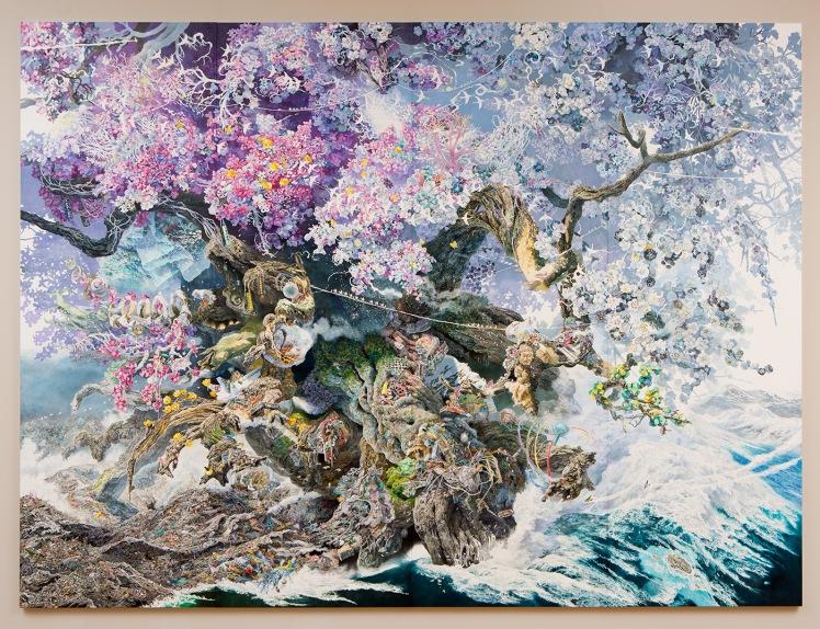 rebirth-2016-pen-ink-13-x-10%e2%80%b2-300-x-100cm-courtesy-the-chazen-museum-of-art