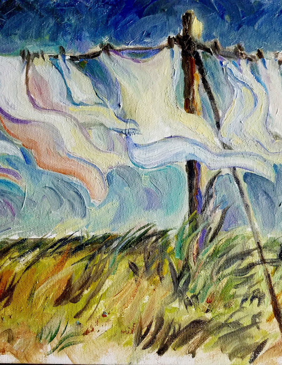 """Windy Day Wash"" by Perry Kapsch"