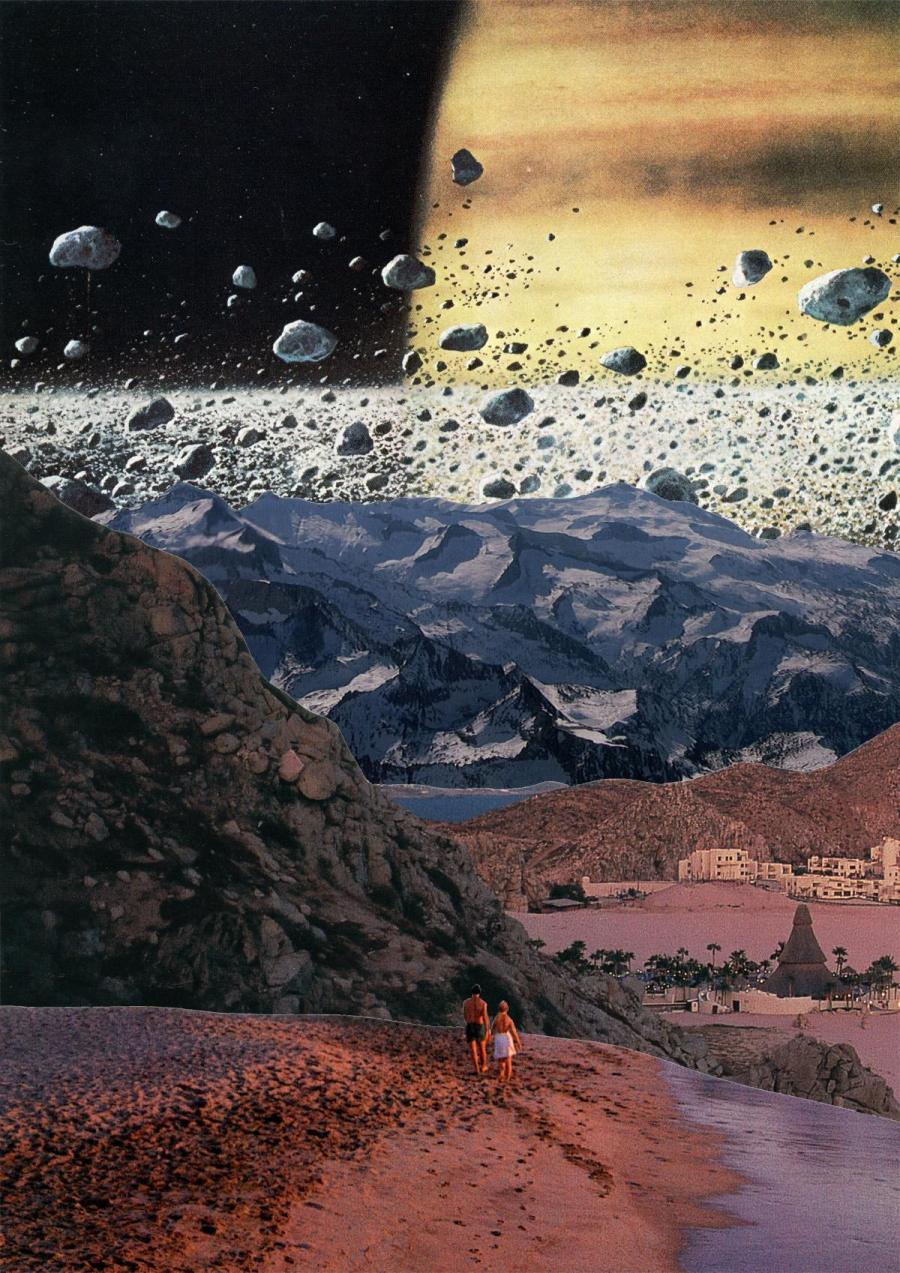 """""""On Mars"""" by Jack Lee, collage (SW17)"""