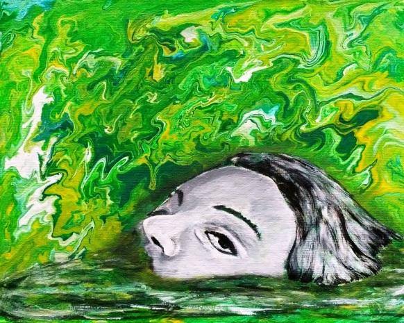 Theresa Alo, Emergence, Acrylic