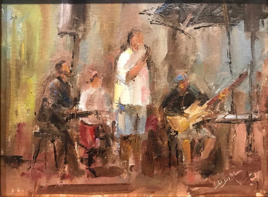 """""""A Little Night Music,"""" oil, by David Diaz from Paint Annapolis 2020"""