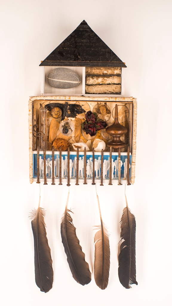"""""""See The Beauty When There's Nothing There,"""" found object assemblage sculpture, by MFA Member Linda Popp"""